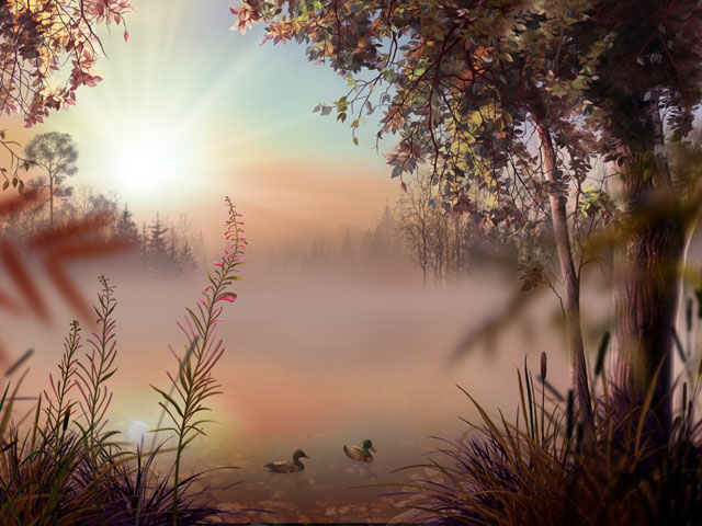 雾湖 Fog Lake 3D Screensaver