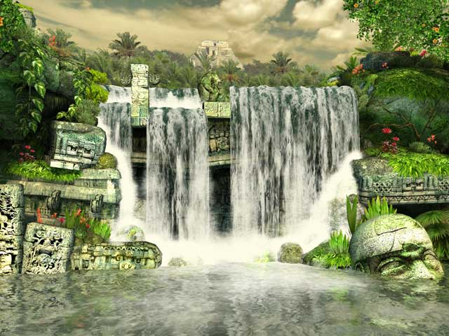 玛雅瀑布 Mayan Waterfall 3D Screensaver
