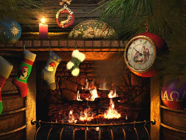 炉边圣诞节 Fireside Christmas 3D Screensaver