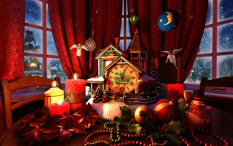 圣诞节晚上 Christmas Evening 3D Screensaver