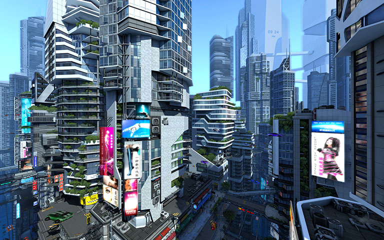 未来城市 Futuristic City 3D Screensaver
