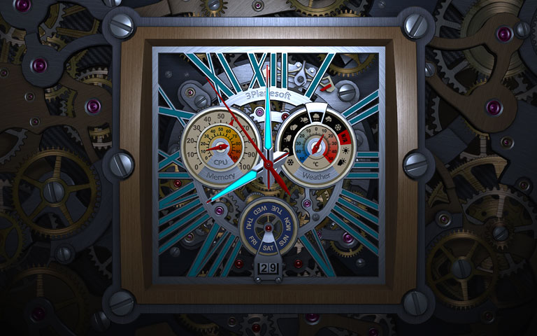 骨架时钟 Skeleton Clock 3D Screensave